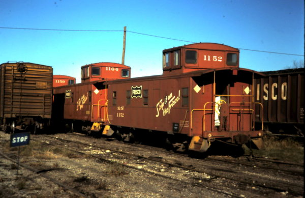 Cabooses 1164 and 1152 (date and location unknown)