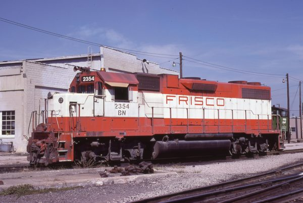 GP38-2 2354 (Frisco 684) at Birmingham, Alabama in February 1982 (Lon Coone)