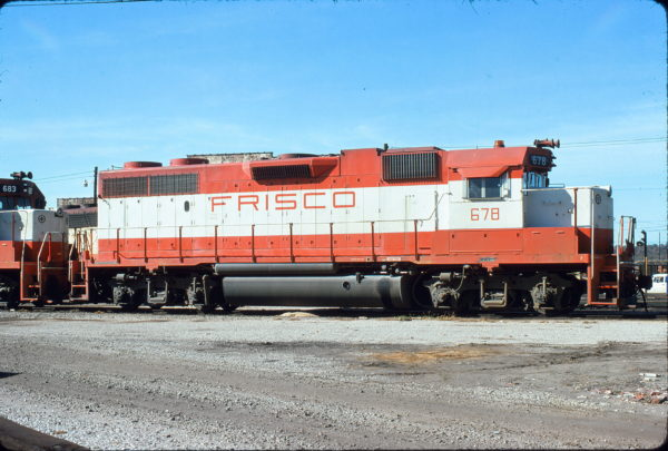 GP38-2 678 at Birmingham, Alabama in November 1979 (Curtis Fortenberry)