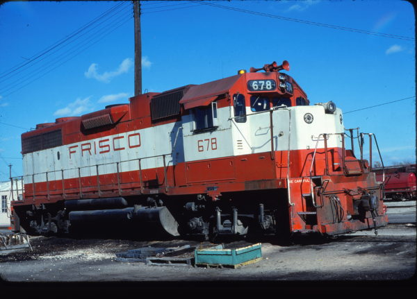 GP38-2 678 at Fort Worth, Texas on November 30, 1980 (Bill Phillips)