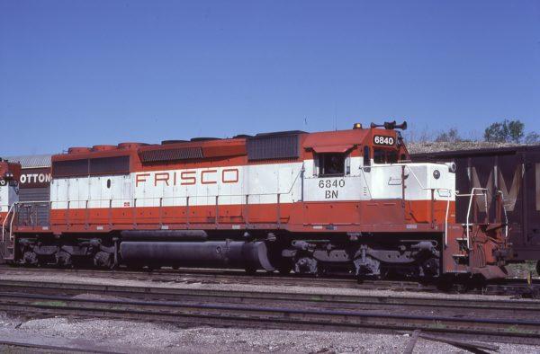 SD40-2 6840 (Frisco 950) at Kansas City, Missouri on April 23, 1981 (J.H. Harlan)