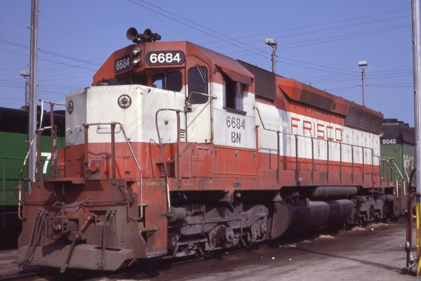SD45 6684 (Frisco 936) at Memphis, Tennessee in July 1981 (D.M. Johnson)