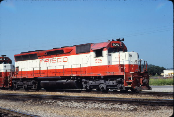 SD45 925 at Tulsa, Oklahoma on July 9, 1980 (James Holder)