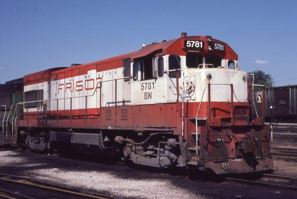 U30B 5781 (Frisco 843) at St. Louis, Missouri in May 1981 (Don Schroeder)