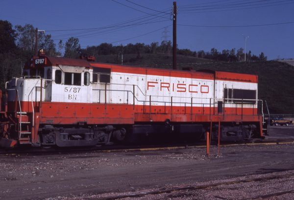 U30B 5787 (Frisco 849) at Omaha, Nebraska on September 11, 1981 (Jerry Bosanek)