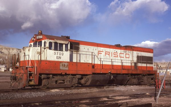 U30B 5789 (Frisco 851) at Green River, Wyoming on March 22, 1981
