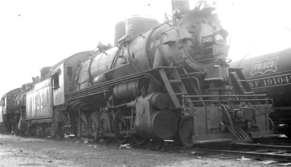 2-10-0 1622 awaiting scrapping at Springfield, Missouri on February 25, 1951 (Arthur B. Johnson)