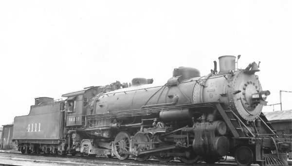2-8-2 4111 at Tulsa, Oklahoma in 1947 (Arthur B. Johnson)