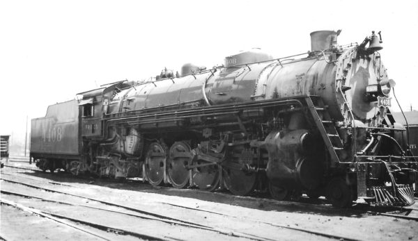 4-8-2 4408 at Springfield, Missouri on June 10, 1948 (Arthur B. Johnson)
