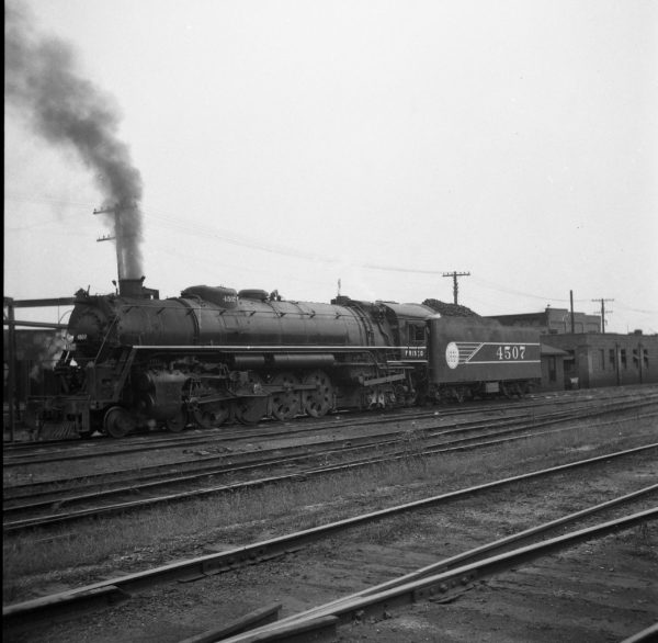 4-8-4 4507 at Lindenwood Yard, St. Louis, Missouri (date unknown)