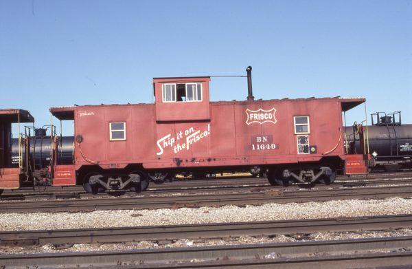 Caboose 11649 (Frisco 1419) at Kansas City, Missouri on May 22, 1983