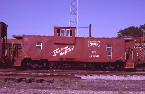 Caboose 11655 (Frisco 1425) at Amory, Mississippi on June 18, 1981