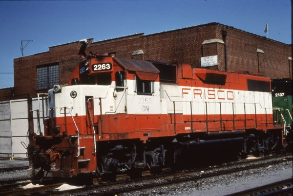 GP38-2 2263 (Frisco 408) at Lindenwood Yard in St. Louis, Mo (date unknown)