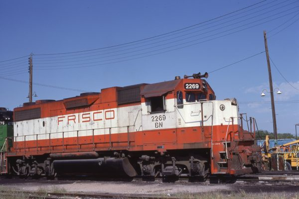 GP38-2 2269 (Frisco 414) at Fort Worth, Texas on September 27, 1981
