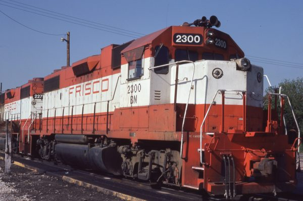 GP38-2 2300 (Frisco 445) at Omaha, Nebraska on May 20, 1981 (Jerry Bosonek)