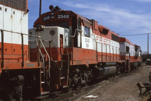 GP38-2 2348 (Frisco 678) at Lincoln, Nebraska in March 1981 (J.C. Butcher)