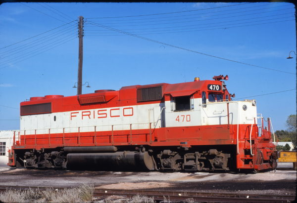GP38-2 470 at Fort Worth, Texas on October 29, 1977