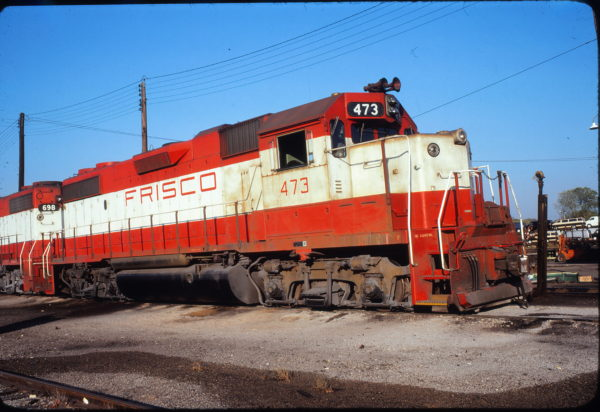 GP38-2 473 at Fort Worth, Texas in November 1978