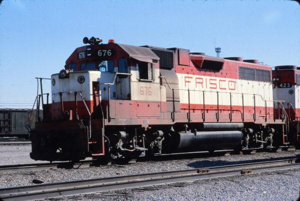 GP38-2 676 at Tulsa, Oklahoma on October 28, 1979