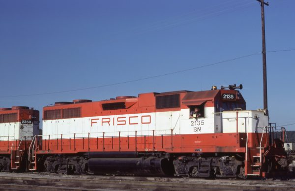 GP38AC 2135 (Frisco 659) at Tulsa, Oklahoma on September 8, 1981 (D.R. Plazzotta)