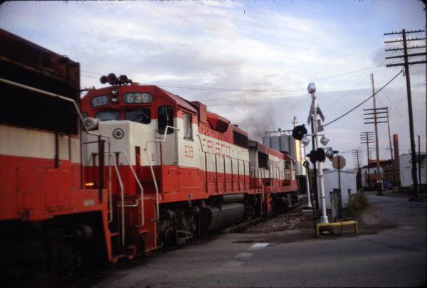 GP38AC 639 at Rolla, Missouri in July 1971 (Tom Baldner)