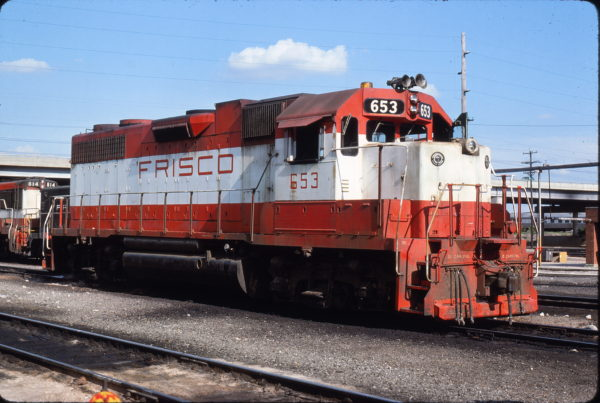 GP38AC 653 at Springfield, Missouri in July 1978 (Paul Orlow Slides)