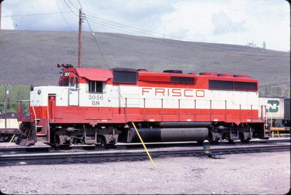 GP40-2 3056 (Frisco 766) at Missoula, Montana in May 1983