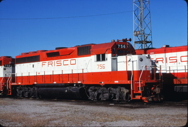 GP40-2 756 at Kansas City, Missouri on September 18, 1980 (James Primm)
