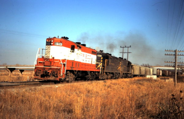 GP7s 515 and 509 at Oklahoma City, OK (date unknown)