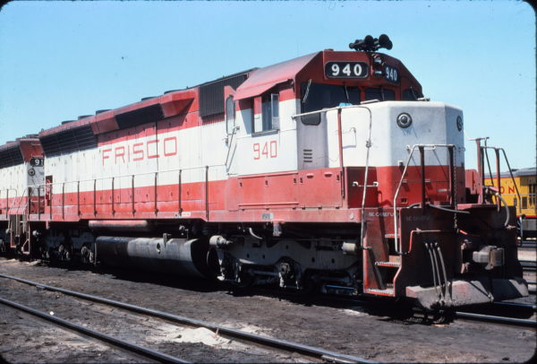 SD45 940 in the UP Yard at Cheyenne, Wyoming in September 1975