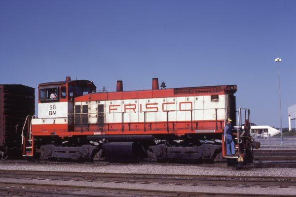 SW1500 58 (Frisco 353) at Kansas City, Missouri on April 23, 1981