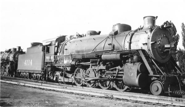 2-8-2 4114 at Tulsa, Oklahoma on July 4, 1948