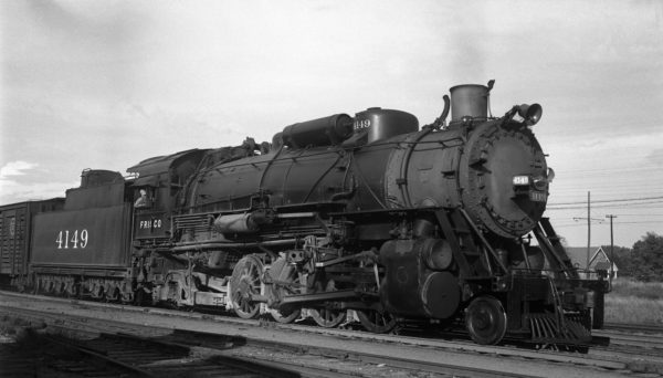 2-8-2 4149 at Tulsa, Oklahoma on October 1, 1944 (R. Collins)