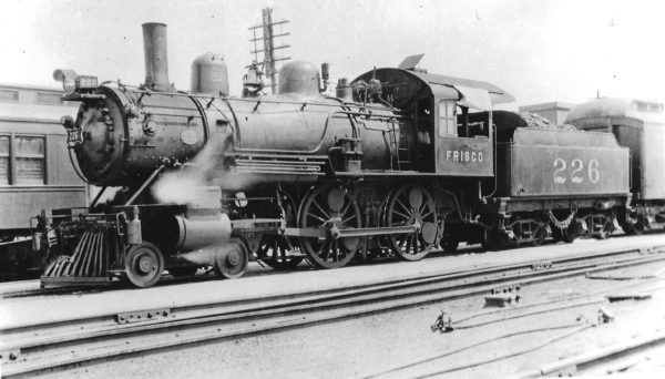 4-4-0 226 at Monett, Missouri in October 1928 (Arthur B. Johnson)