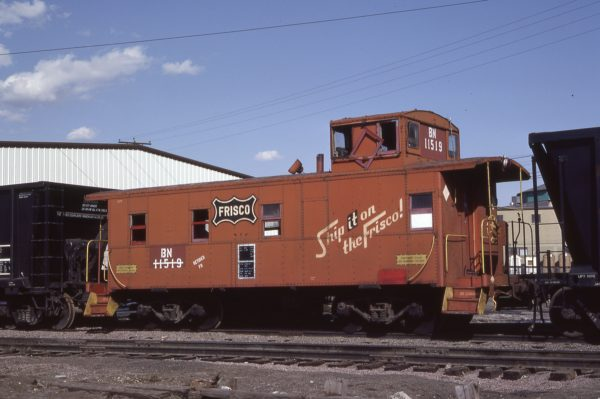 Caboose 11519 (Frisco 1170) at Denver, Colorado on April 16, 1983 (Mike Reid)