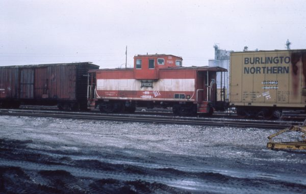 Caboose 11569 (Frisco 1241) at Galesburg, Illinois on February 26, 1985