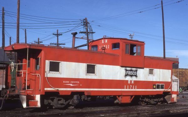 Caboose 11711 (Frisco 1776) at Denver, Colorado on January 24, 1981 (Neil Shankweiler)