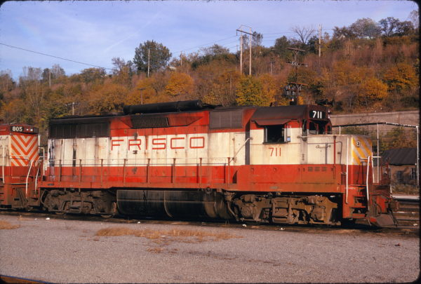 GP35 711 at Kansas City, Missouri on October 20, 1974 (James Primm)