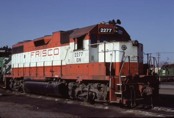 GP38-2 2277 (Frisco 422) at Minneapolis, Minnesota on April 24, 1982 (Jim Shepard)
