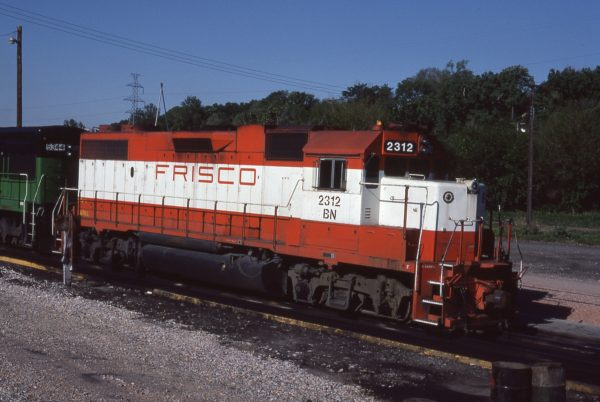 GP38-2 2312 (Frisco 457) at Omaha, Nebraska on May 10, 1981 (Jerry Bosanek)