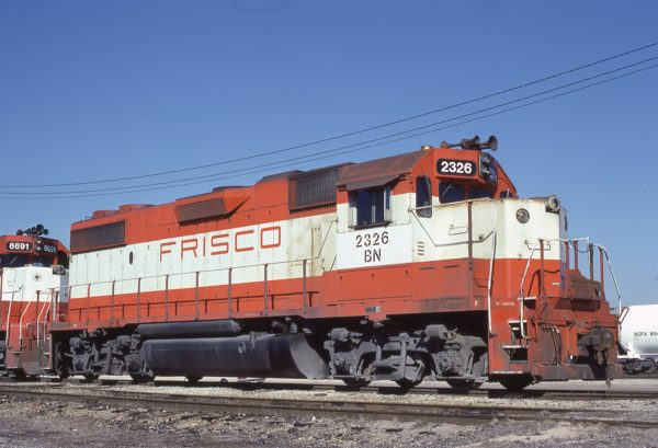 GP38-2 2326 (Frisco 471) at Memphis, Tennessee in February 1981 (Lon Coone)