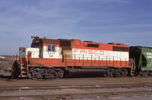 GP38-2 2601 (Frisco 460) at Pittsburg, Kansas on March 18, 1981 (Jim Shepard)