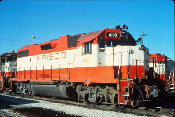 GP38-2 410 at Memphis, Tennessee in January 1981 (Vernon Ryder)