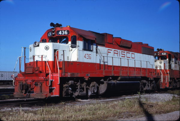 GP38-2 436 at Memphis, Tennessee in August 1979 (Steve Forrest)