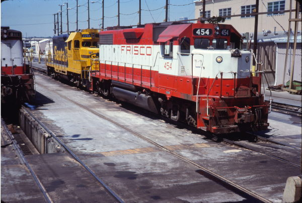 GP38-2 454 (location unknown) in June 1980 (Zach Marlow)