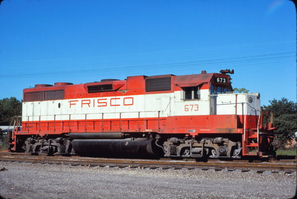 GP38-2 673 at Hayti, Missouri on September 11, 1976 (Bill Folsom)