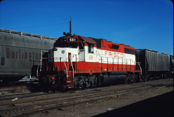 GP38-2 681 at Enid, Oklahoma on January 2, 1981 (Gene Gant)