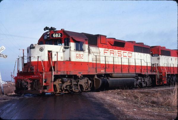 GP38-2 682 at Altus, Oklahoma in December 1977 (Michael Reid)