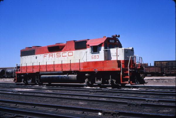 GP38-2 683 at North Platte, Nebraska on August 8, 1973 (Fred Ziebe)