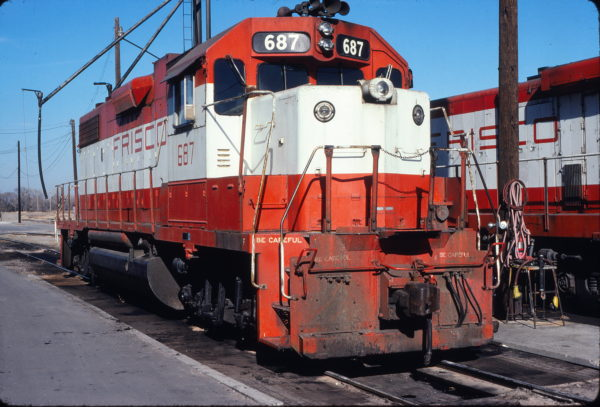 GP38-2 687 at Wichita, Kansas on January 4, 1981 (Allan Ramsey)